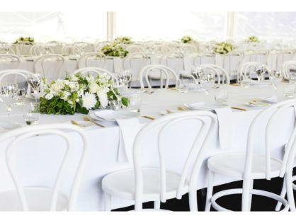 WHITE AND GOLD MINIMALIST MARQUEE DREAM BY THE THREE PIECE SUIT